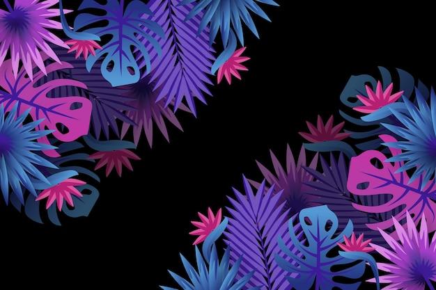 Tropische blumen / blätter - hintergrund für zoom