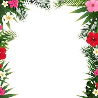 Tropische blumen grenze