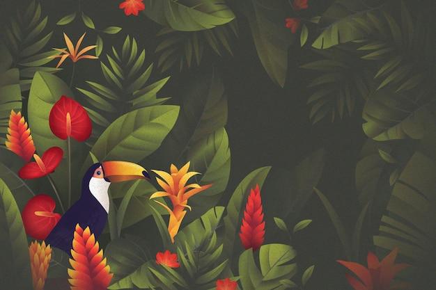 Tropische blumentapete für zoom