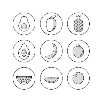 Tropische Früchte Icon
