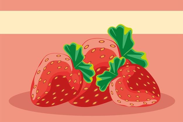 Tropische früchte erdbeeren frische ernährung