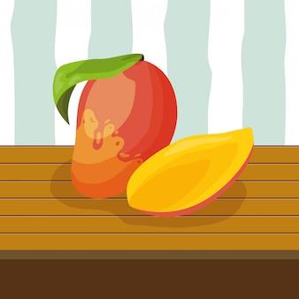 Tropische früchte hintergrund