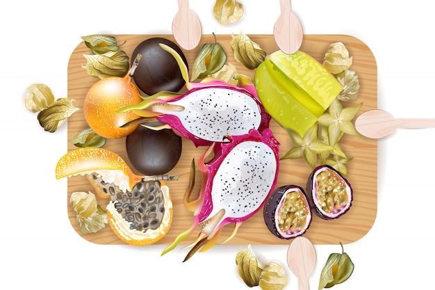 Tropische früchte muster sammlung