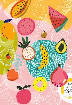 Tropische früchte muster