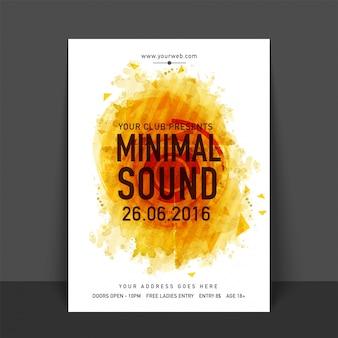 Tropische musik sommer broschüre vorlage