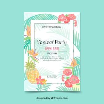 Tropische partybroschüre