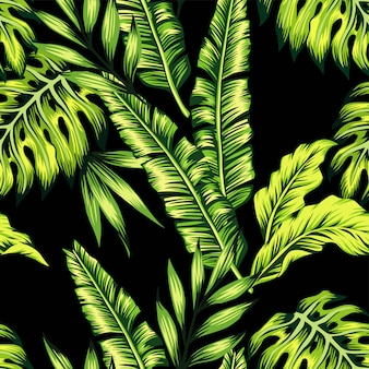 Tropische pflanzen nahtlose muster