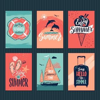 Tropische postkarten
