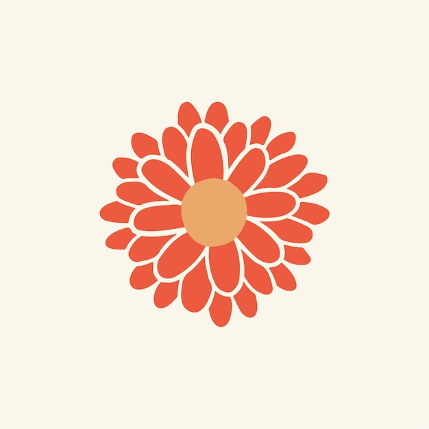 Tropische rote blumen symbol social media post floral vector illustration