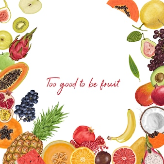 Tropische sammlung der frischen saftigen frucht