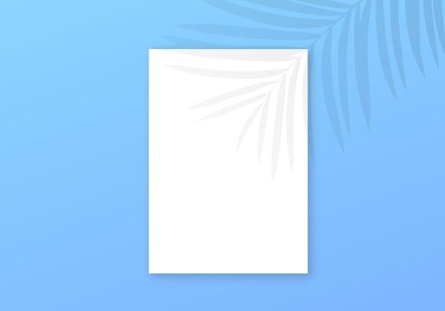 Tropische schattenüberlagerung. transparenter palmblatthintergrund