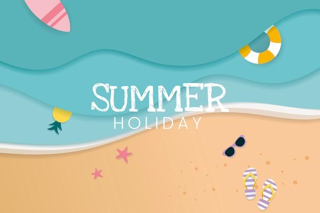 Tropische sommerferien