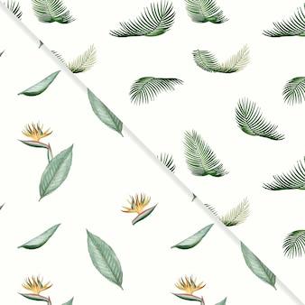 Tropische sommermuster-kollektion