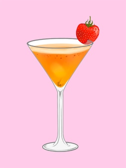 Tropische strandparty-cocktailillustration