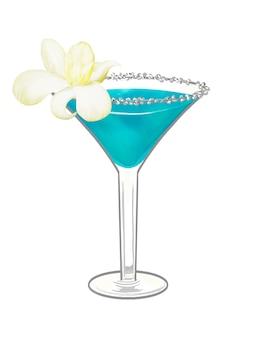Tropische strandparty-cocktailillustration Kostenlosen Vektoren