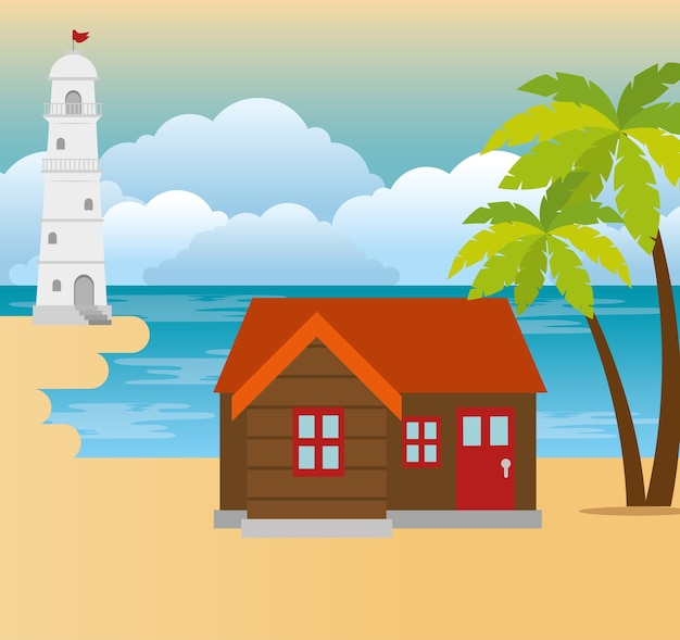 Tropische strandsommerszene
