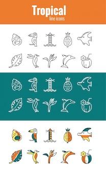 Tropische symbole