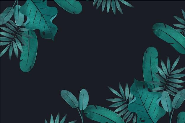 Tropische tapete mit leerem raum