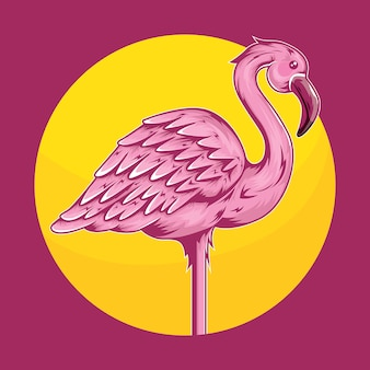 Tropische tierflamingo-vogel-illustration