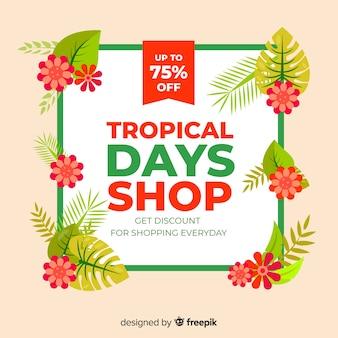 Tropische verkäufe