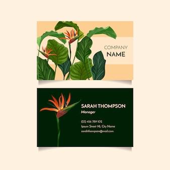 Tropische visitenkarte