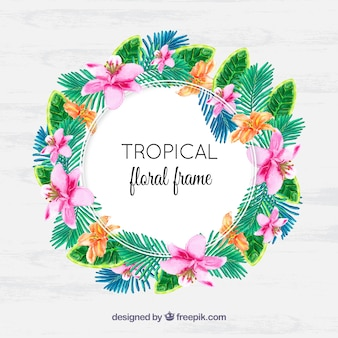 Tropischer aquarellkranz