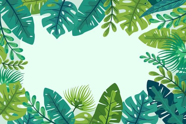 Tropischer blätterhintergrund
