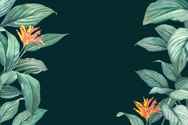Tropischer blätterrahmen