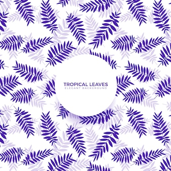 Tropischer blatt-purpur-hintergrund