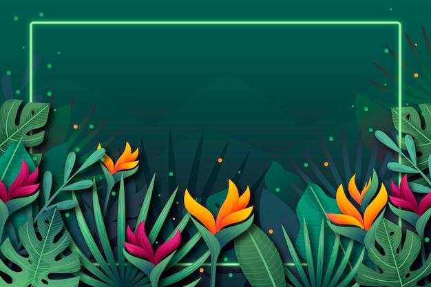Tropischer blumenhintergrund für zoom