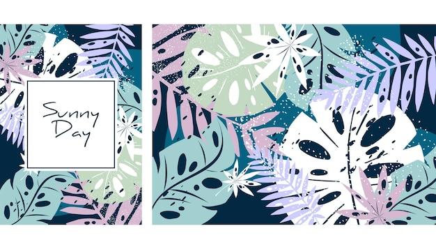 Tropischer dschungel blätter muster exotische blätter kunstdruck