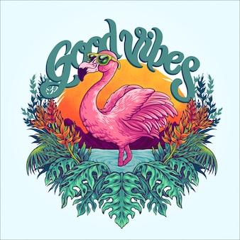 Tropischer flamingo