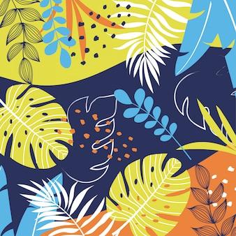 Tropischer hintergrund mit pflanzen