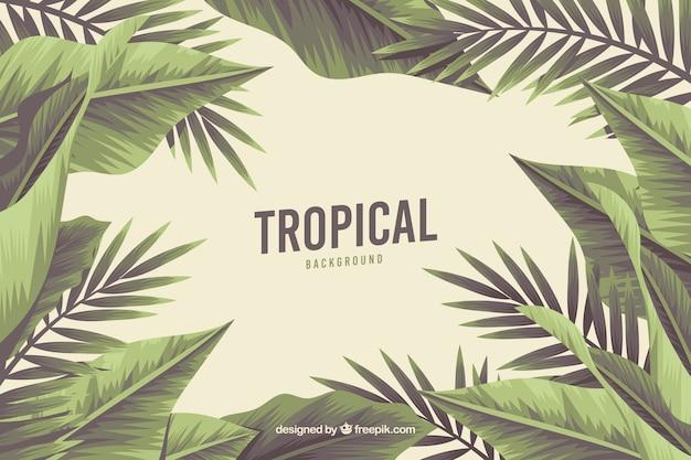 Tropischer hintergrund mit wilder natur