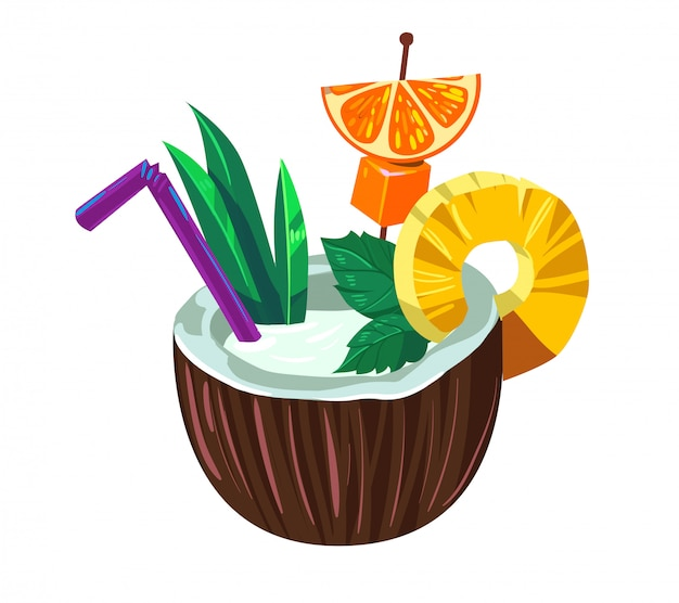Tropischer kokosnusscocktail