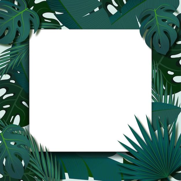 Tropischer laubrahmen