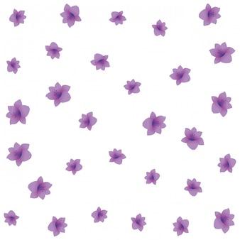 Tropischer purpurroter blumenmusterhintergrund