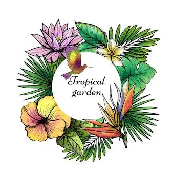 Tropischer rahmen