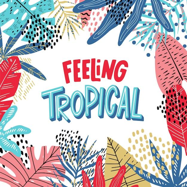 Tropischer schriftzug