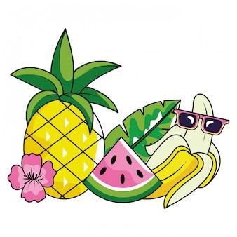 Tropischer sommer-cartoon
