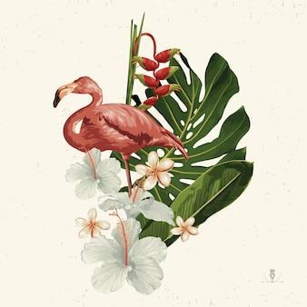 Tropischer sommer-clipart. sommeremblem nützlich für hintergrunddesign.