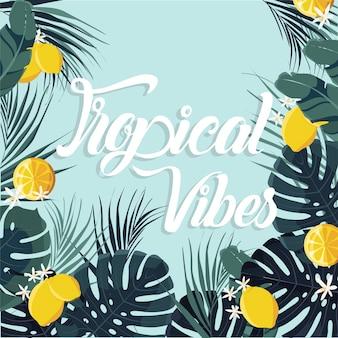 Tropischer sommer hintergrund