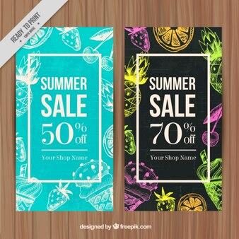 Tropischer sommer-rabatt banner