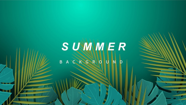 Tropischer sommer verlässt hintergrund.