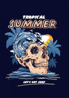 Tropischer sommer