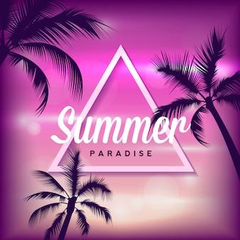 Tropischer sommerhintergrund mit palmen