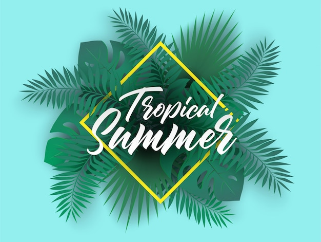 Tropischer sommerhintergrund