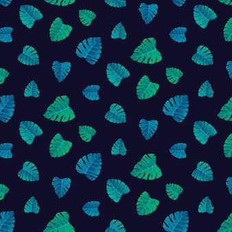 Tropisches blatt des sommermusters