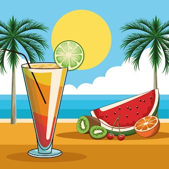 Tropisches cocktailgetränk