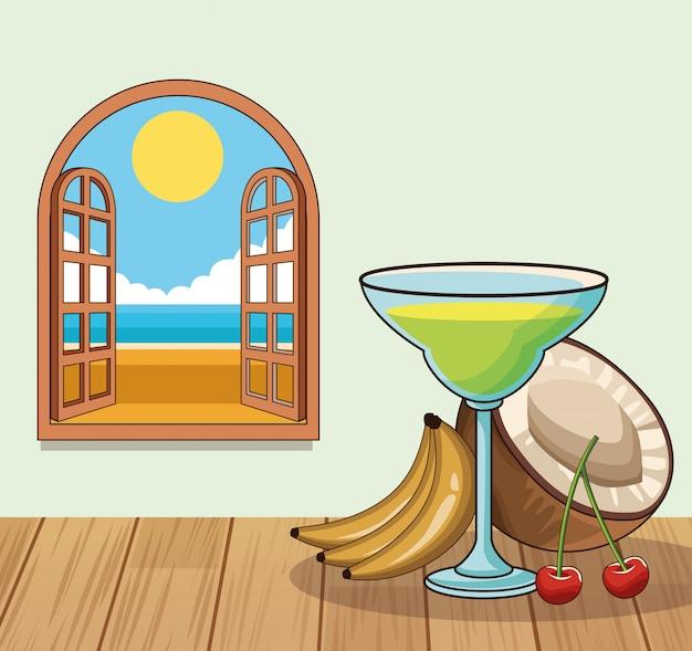 Tropisches cocktailgetränkplakat